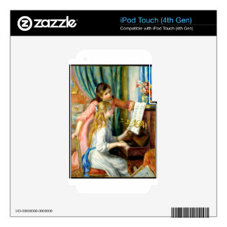 Two Girls at the Piano - Pierre Auguste Renoir Decals For iPod Touch 4G