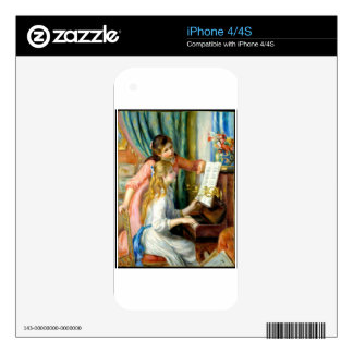 Two Girls at the Piano - Pierre Auguste Renoir Decals For The iPhone 4S