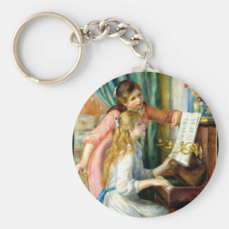 Two Girls at the Piano - Pierre Auguste Renoir Keychain