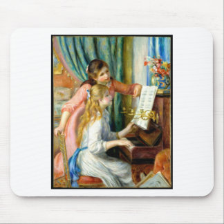 Two Girls at the Piano - Pierre Auguste Renoir Mouse Pad