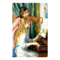 Two Girls at the Piano - Pierre Auguste Renoir Stationery