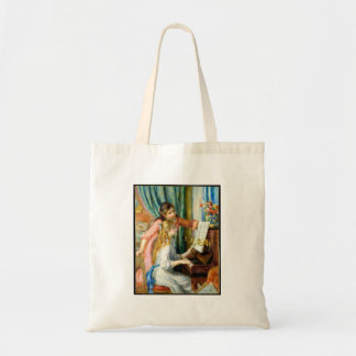 Two Girls at the Piano - Pierre Auguste Renoir Tote Bag