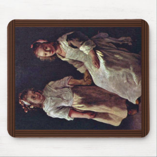 Two Girls.,  By Le Nain Louis (Best Quality) Mouse Pad