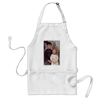 Two Girls By Modigliani Amedeo Aprons