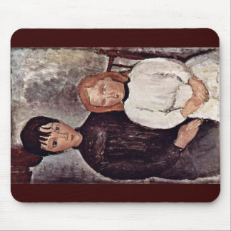 Two Girls By Modigliani Amedeo Mouse Pads