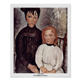 Two Girls By Modigliani Amedeo Poster