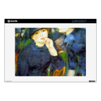 Two Girls by Pierre Renoir Laptop Decal