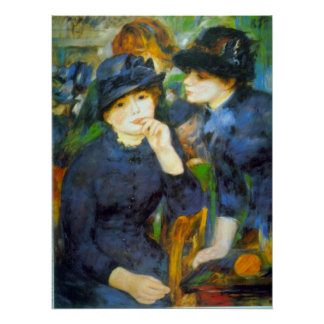 Two Girls by Pierre Renoir Posters
