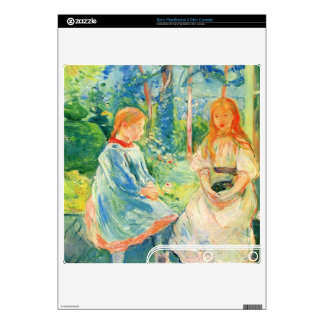 Two girls by the window by Berthe Morisot Skin For The PS3 Slim