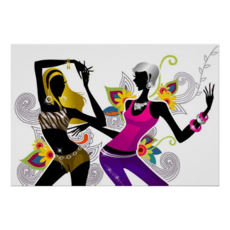 Two Girls Dancing Poster