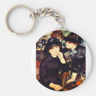 Two Girls in Black Basic Round Button Keychain
