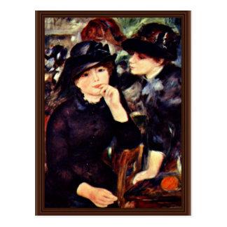 Two Girls In Black By Pierre-Auguste Renoir (Best Post Card