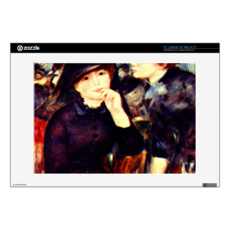 Two girls in black by Pierre Renoir Laptop Skins