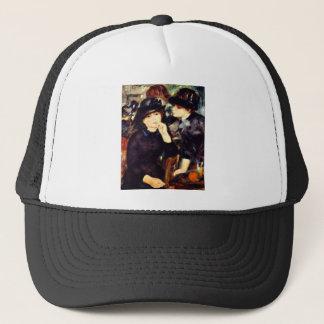 Two Girls in Black Trucker Hat