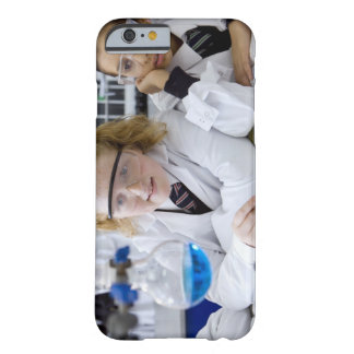 Two girls in school uniform wearing lab coats barely there iPhone 6 case