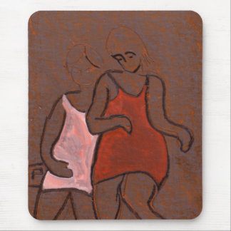 Two girls mouse pad