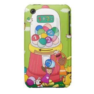 Two girls near a gumball machine iPhone 3 case