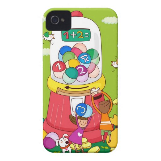 Two girls near a gumball machine iPhone 4 cases