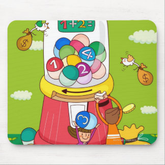 Two girls near a gumball machine mouse pad
