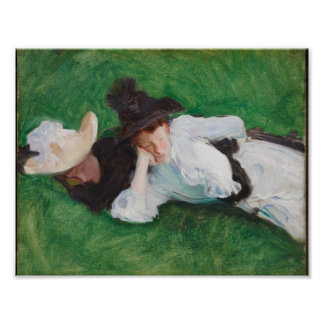 Two Girls on a Lawn , John Singer Sargent (America Poster
