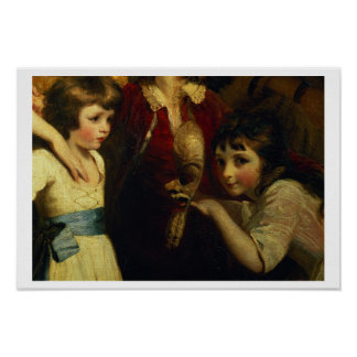 Two Girls, One Playing with a Mask, detail from th Poster