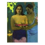 Two Girls, Paul Gauguin Postcard
