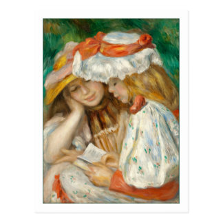 Two Girls Reading by Renoir Postcard