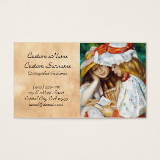 Two Girls Reading Pierre Auguste Renoir painting Business Card
