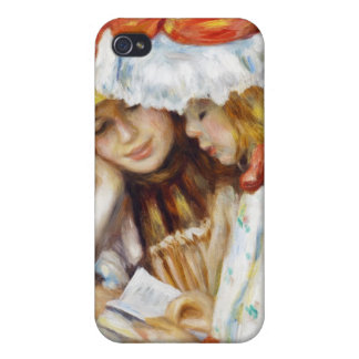 Two Girls Reading Pierre Auguste Renoir painting Case For iPhone 4