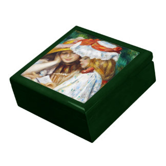 Two Girls Reading Pierre Auguste Renoir painting Jewelry Box