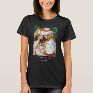 Two Girls Reading Pierre Auguste Renoir painting T-Shirt