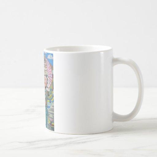 Two Girls with Parasols Coffee Mug