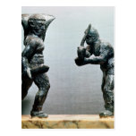 Two gladiators in combat post card