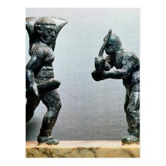 Two gladiators in combat postcard