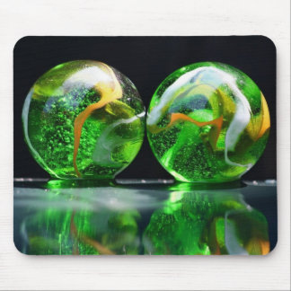 Two glass ball mouse pad
