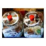 Two Glass Cookie Jars Greeting Card