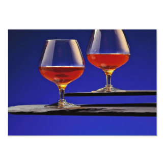 Two glasses filled with Brandy Card