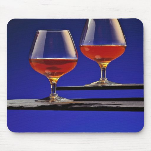 Two glasses filled with Brandy Mouse Pad