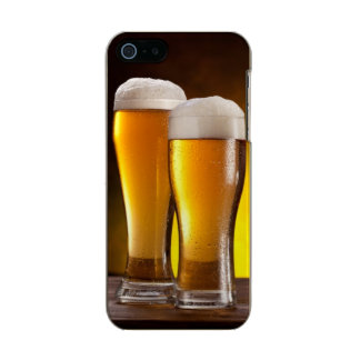 Two glasses of beers on a wooden table incipio feather® shine iPhone 5 case