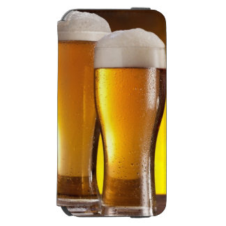 Two glasses of beers on a wooden table incipio watson™ iPhone 6 wallet case