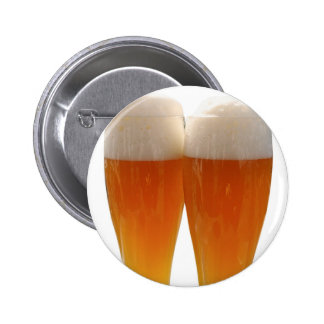 Two glasses of German weisse beer Pinback Button