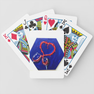 Two glasses, One heart Bicycle Poker Deck