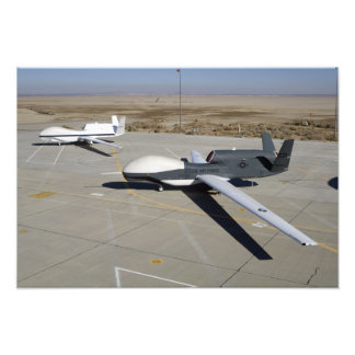 Two Global Hawks parked on a ramp Photo Print