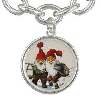 Two Gnome Friends Charm Bracelets