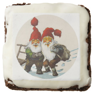 Two Gnome Friends Square Brownie
