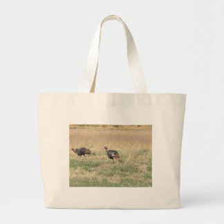 Two Gobblers Large Tote Bag