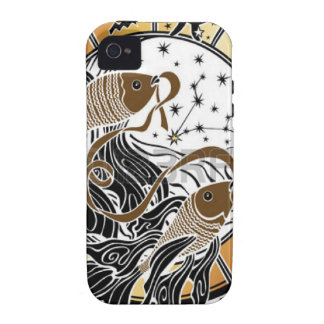 TWO GOLD FISH AND THE ZODIAC SIGN VIBE iPhone 4 CASE