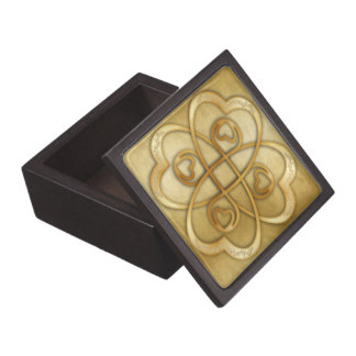 Two Gold Hearts Double Infinity - Gift Box