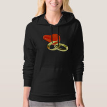 Two Gold Rings Womens Hoodie