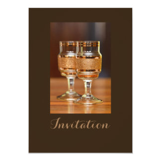Two Golden Glasses Card